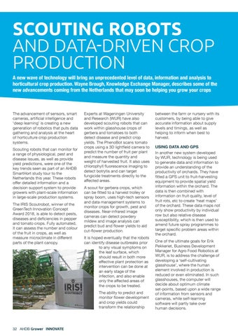 Page 32 of Scouting robots and data-driven crop production