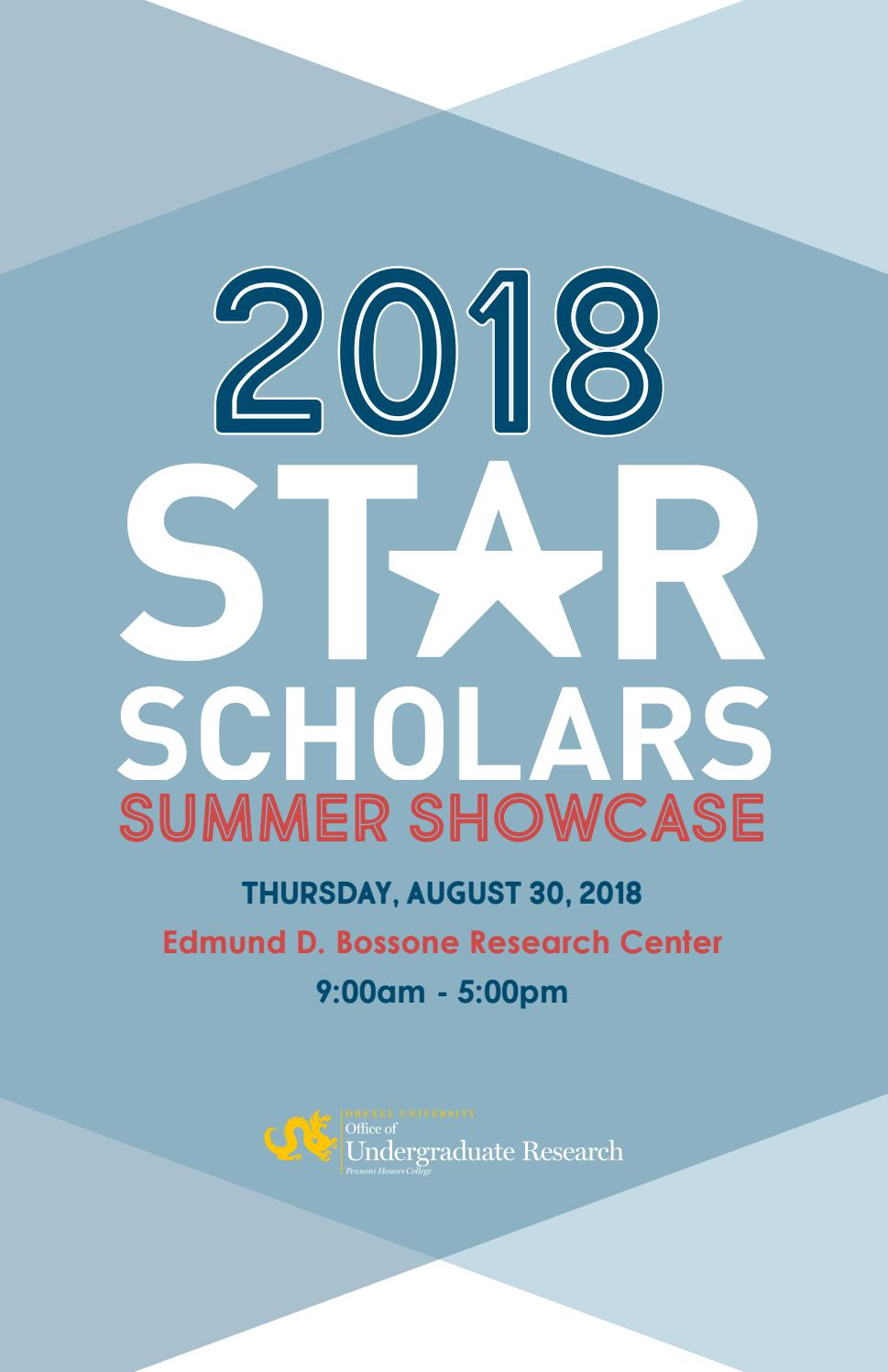 2018 Star Scholars Summer Showcase Booklet By Erica Levi Zelinger Issuu