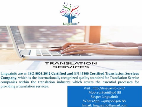 India's No 1 Certified Quality Language Translation Company In India