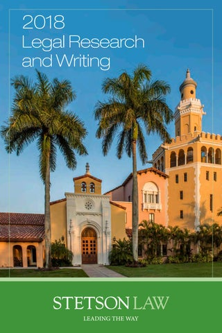 b368a60e Stetson Law Legal Research and Writing (2018) by Stetson University ...