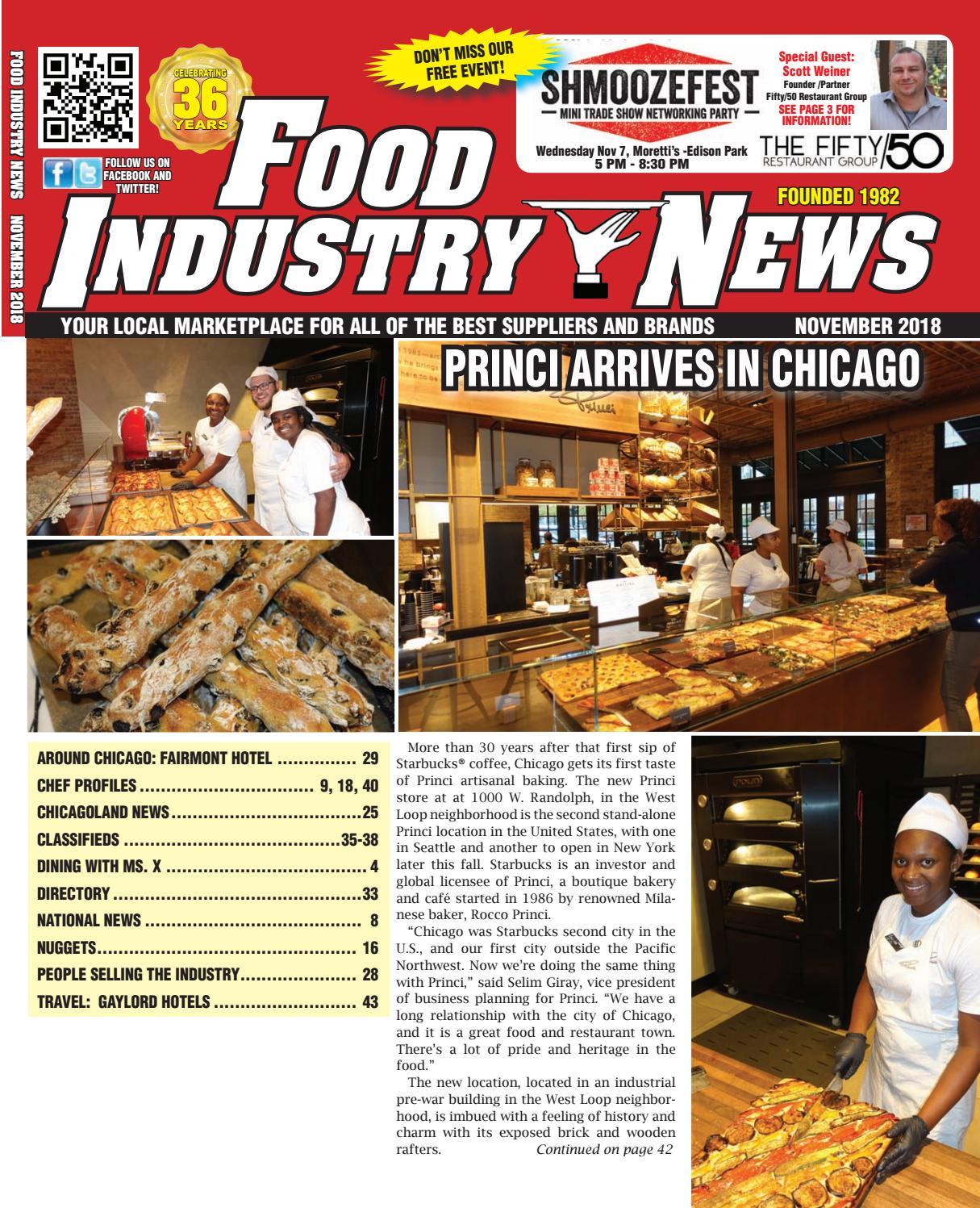 Food Industry News November 2018 web edition