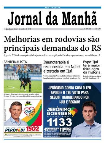 Jornal da Manhã - Quarta-feira 03-10-2018 by clicjm - issuu 28dd5313d9cd0