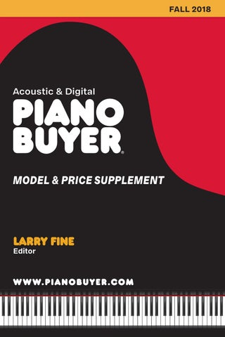 Piano Buyer Model & Price Supplement -- Fall 2018 by Moore