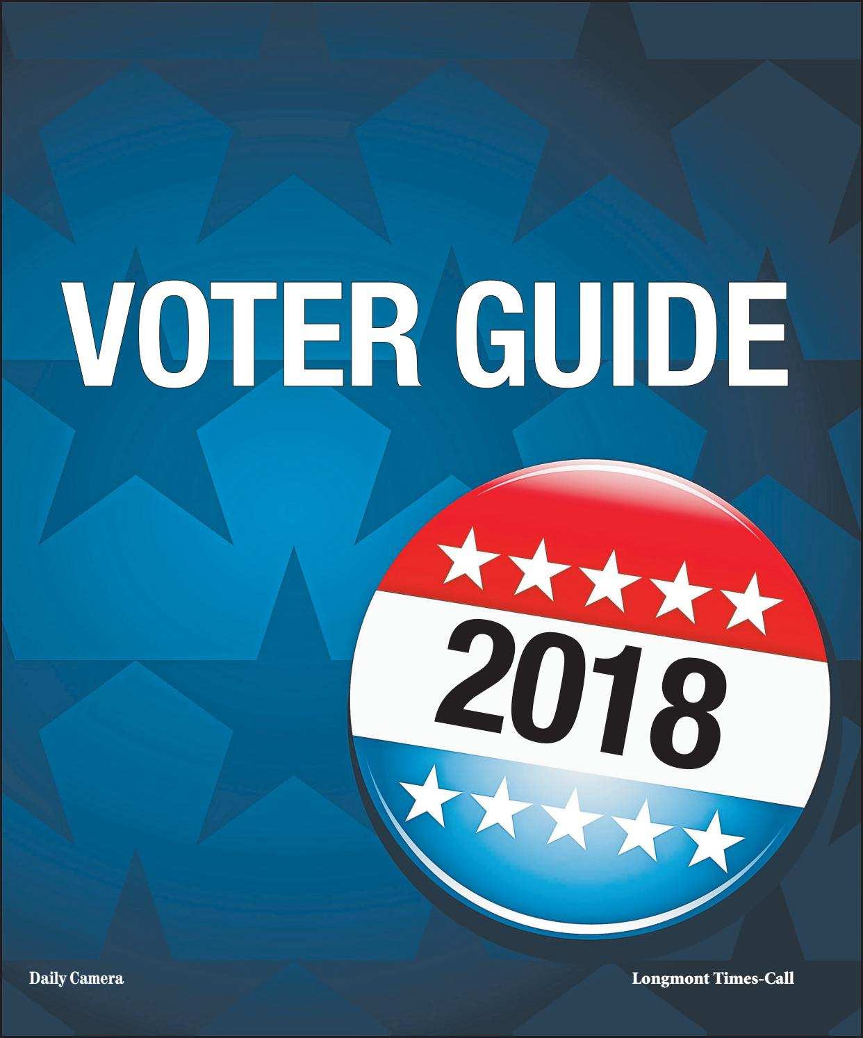 Daily Camera Voter Guide, October 14, 2018 by Prairie