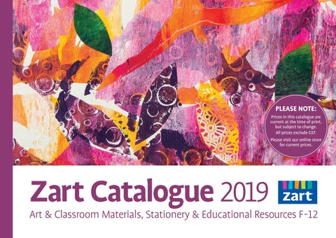 35030c9a50a Zart School Catalogue 2019 by Zart : Art, craft and education ...