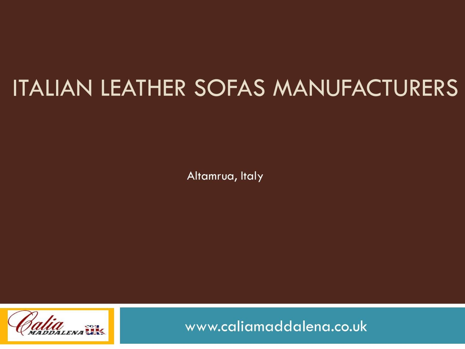 Italian Leather Sofas Manufacturers By