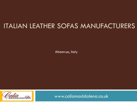 Italian Leather Sofas Manufacturers by Calia Maddalena - issuu