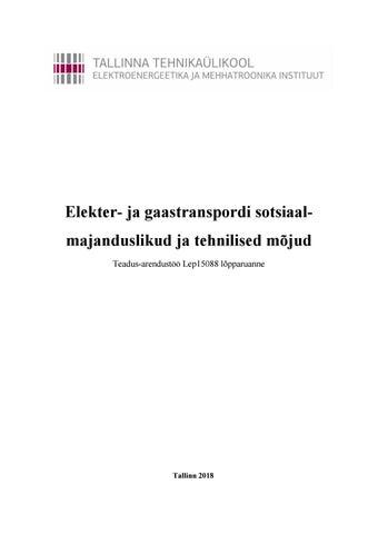 be02f5a3804 Elekter- ja gaastranspordi sotsiaalmajanduslikud ja tehnilised mõjud ...