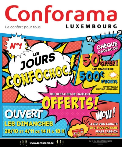 Doc02 N1 Les Jours Confochoc By Conforama Luxembourg Issuu