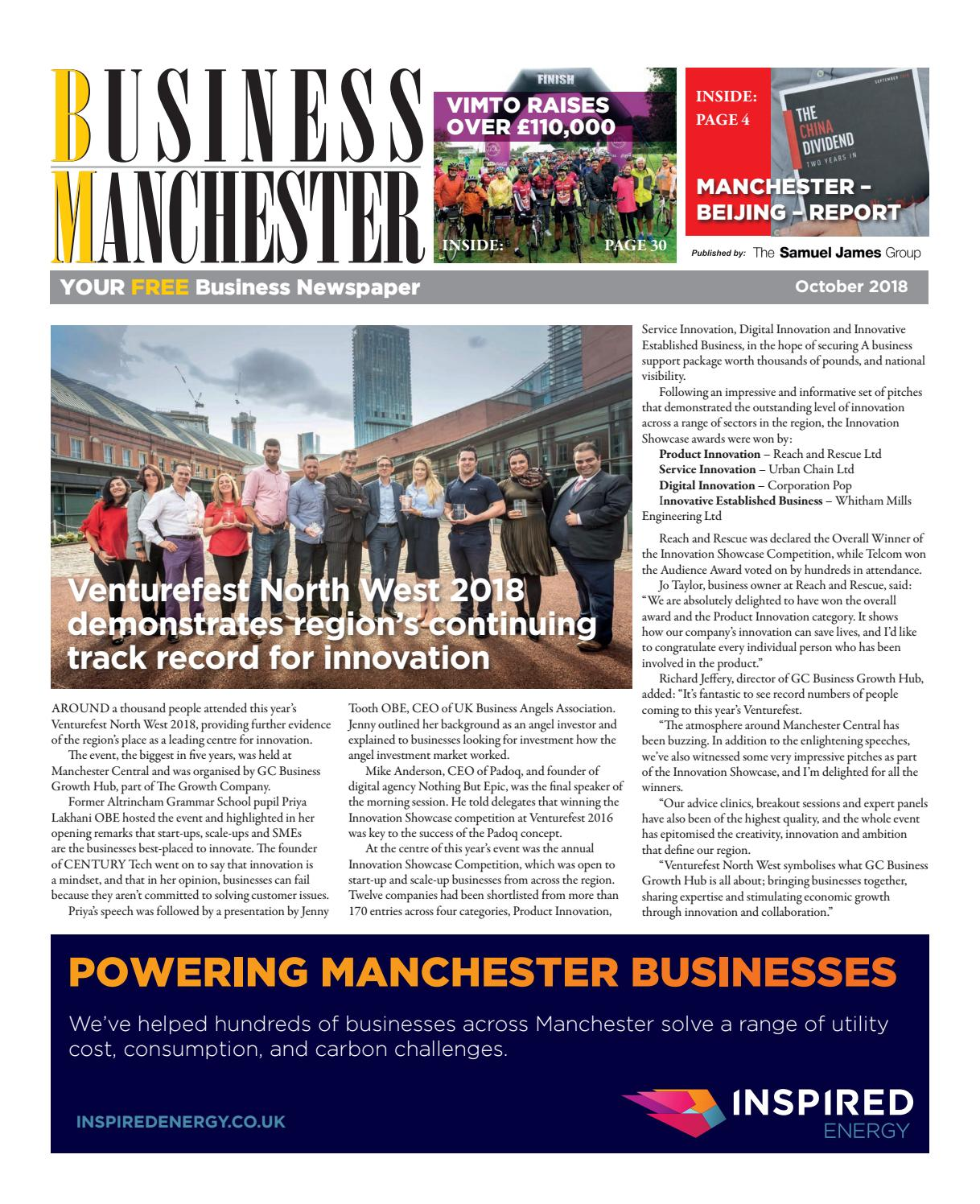 Business Manchester October 2018 by The Samuel James Group
