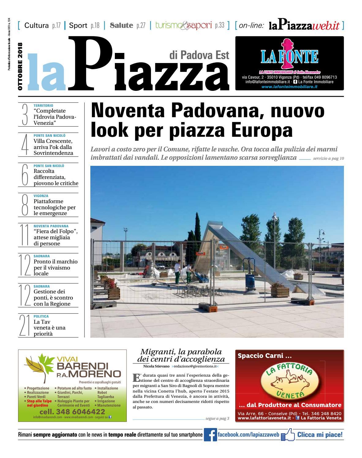 La Piazza Di Padova Est Ott2018 N134 By Lapiazza Give Emotions Issuu