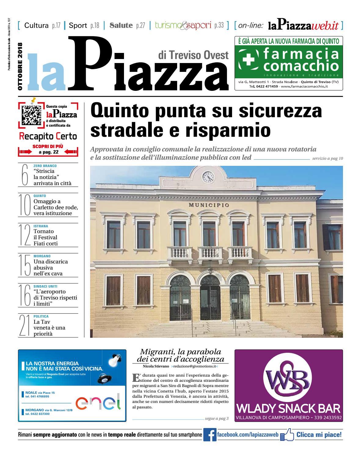 La Piazza di Treviso ovest ott2018 n137 by lapiazza give emotions - issuu 810c2b9b7703