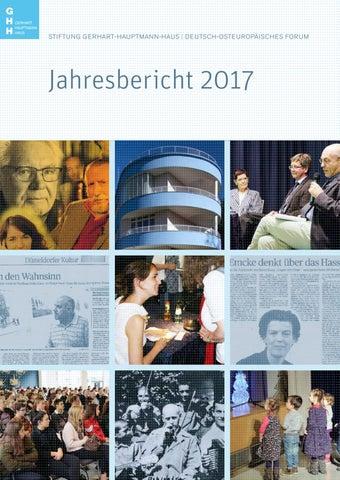 Jahresbericht 2017 By Stiftung Gerhart Hauptmann Haus Issuu