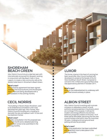 Page 23 of The latest development updates from Adur