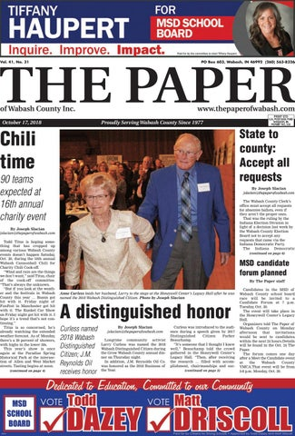 The Paper Of Wabash County Oct 17 2018 Issue By The Paper Of