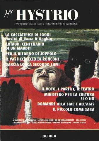 Hystrio 1996 2 aprile giugno by Hystrio issuu