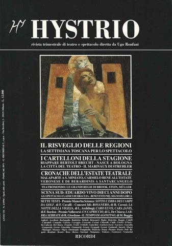 Hystrio 1994 4 ottobre-dicembre by Hystrio - issuu c1df8844cf5