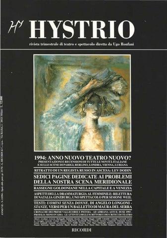 1d96c34c7f Hystrio 1994 1 gennaio-marzo by Hystrio - issuu