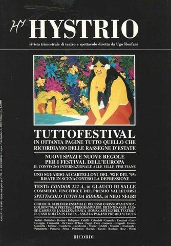 Hystrio 1992 4 ottobre-dicembre by Hystrio - issuu 70684fb8819