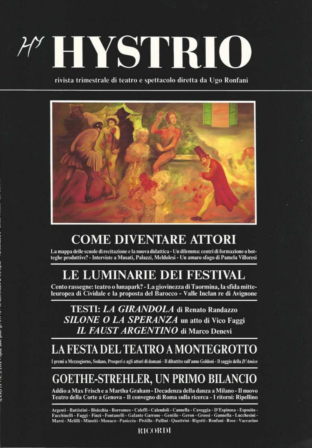 Hystrio 1991 3 luglio-settembre by Hystrio - issuu c3571be4bec