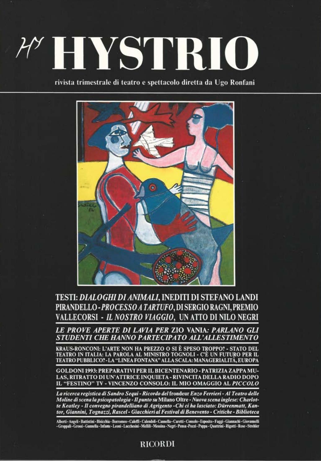360e84a8fb Hystrio 1991 1 gennaio-marzo by Hystrio - issuu