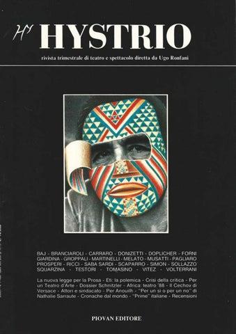 Hystrio 1988 1 gennaio marzo by Hystrio issuu