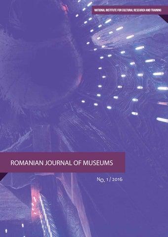 Romanian Journal of Museums – Volume 1 / 2016 – Digitization