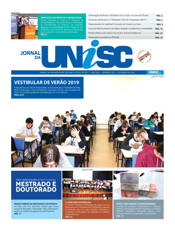 8ac6a043e60dc Jornal da Unisc 184 by UNISC Santa Cruz do Sul - issuu