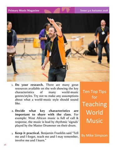 Page 26 of Ten Top Tips for Teaching World Music