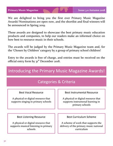 Page 30 of Introducing the Primary Music Magazine Awards