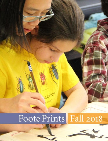 Foote Prints Fall 2018 By The School