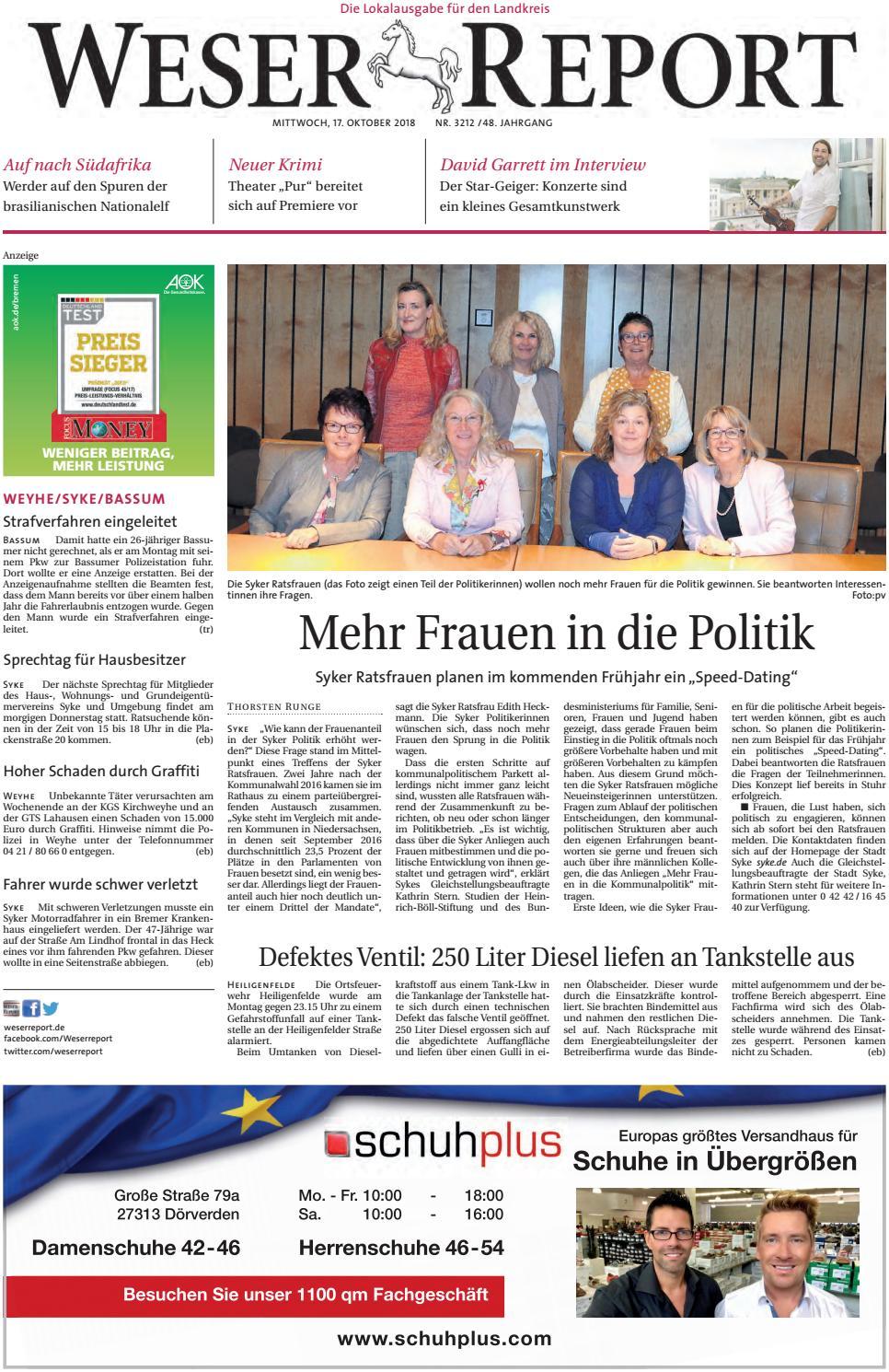 Weser Report Weyhe, Syke, Bassum vom 17.10.2018 by KPS