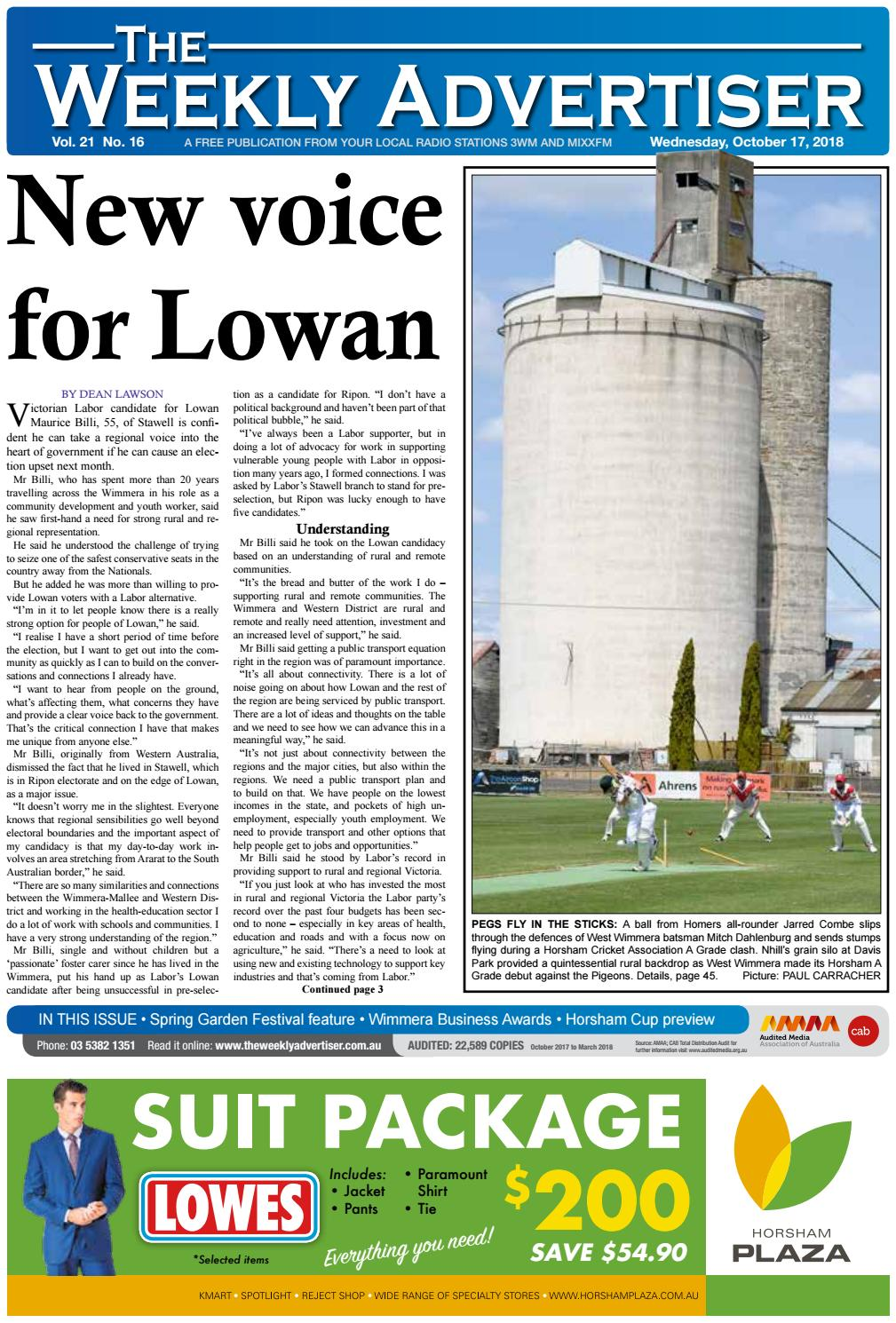 21ed031411ed39 The Weekly Advertiser - Wednesday, October 17, 2018 by The Weekly  Advertiser - issuu