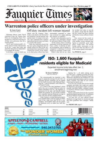 Fauquier Times October 17 2018 By Fauquier Times Issuu