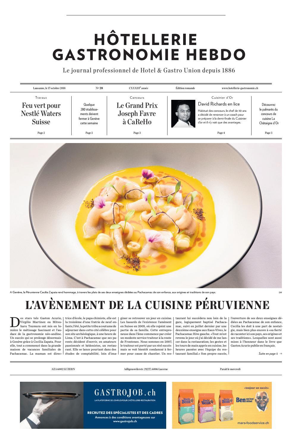 Hg Hebdo 28 2018 By Hotellerie Gastronomie Verlag Issuu
