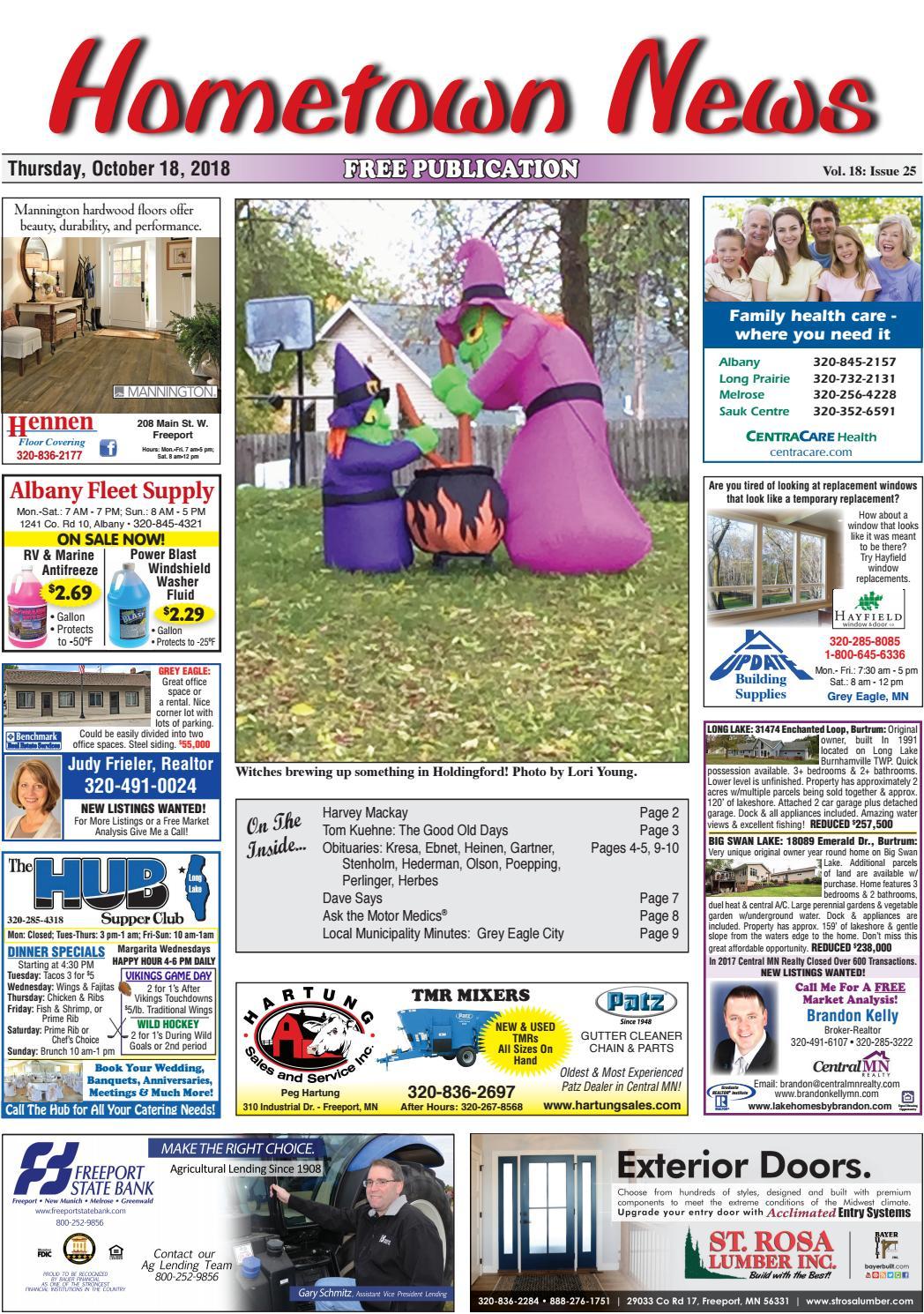 Hometown News October 18, 2018 by Hometown News - issuu