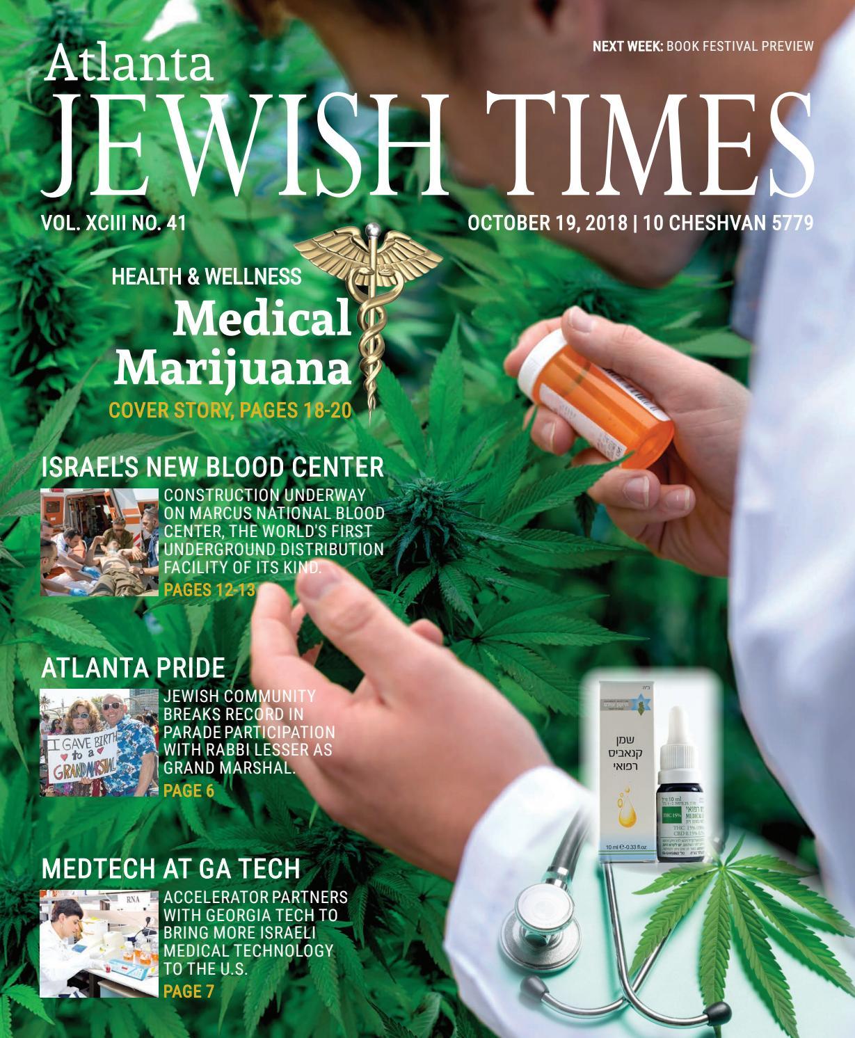 Atlanta Jewish Times, Vol  XCIII No  41, October 19, 2018 by