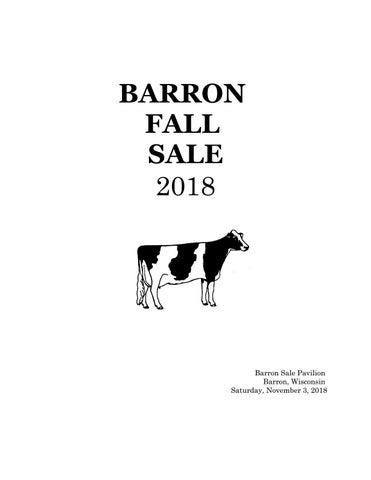 Barron Fall Sale 2018 by Dairy Agenda Today - issuu