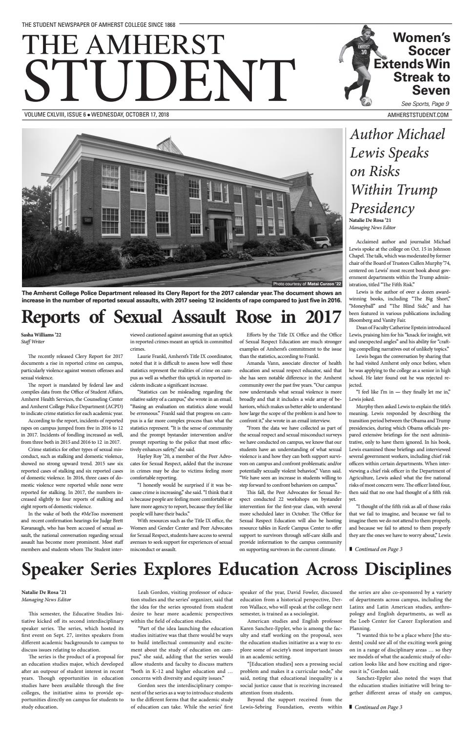 Issue 6 by The Amherst Student - issuu