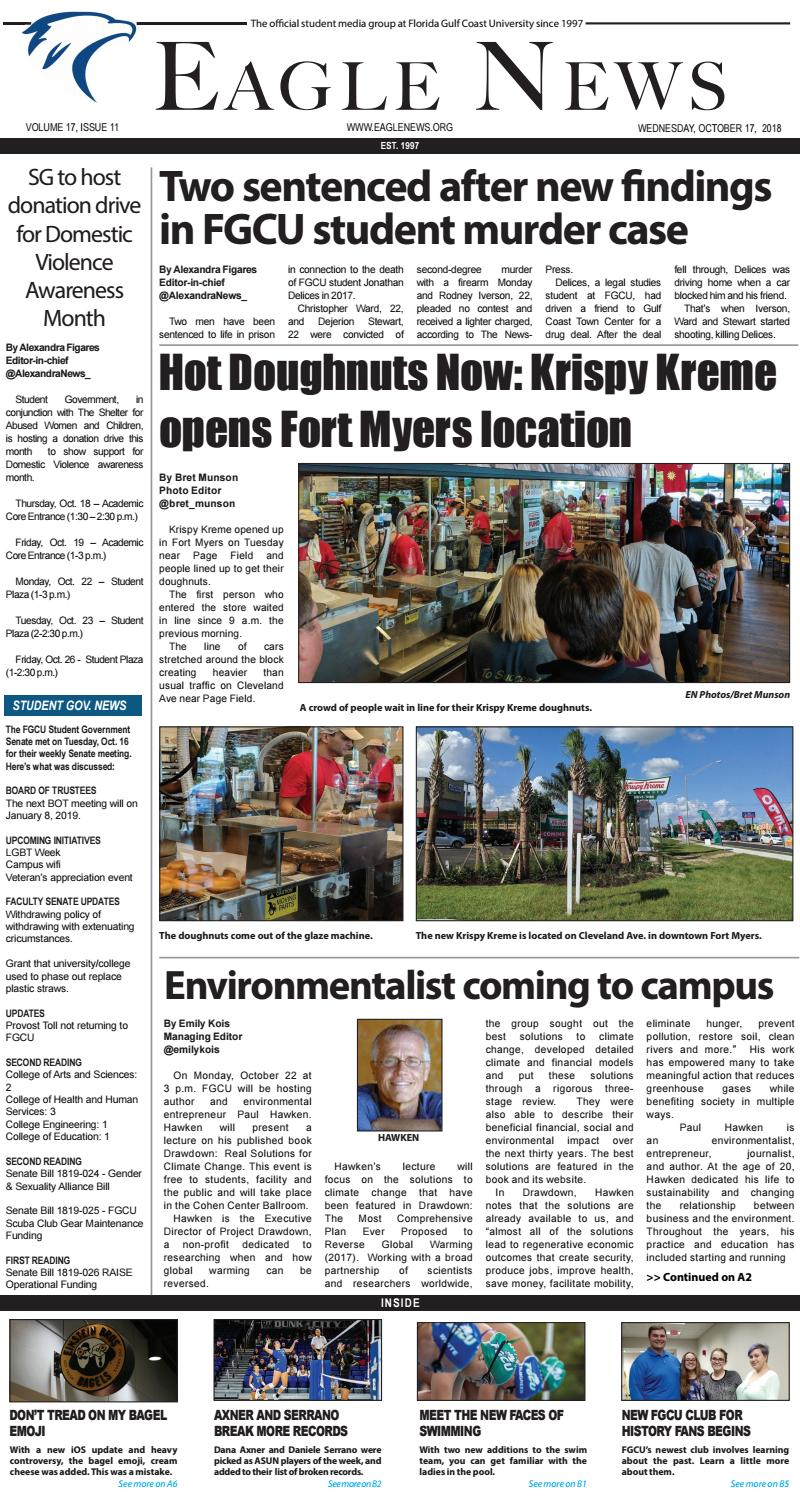Volume 17 Issue 11 by Eagle News - issuu