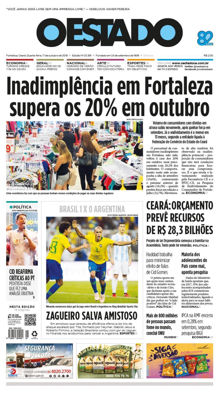 17 10 2018 – Edição 23391 by Jornal O Estado (Ceará) - issuu 40d6388c6cdc5