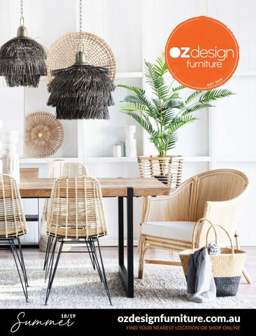 Oz Design Furniture Summer 18 19 Directory By