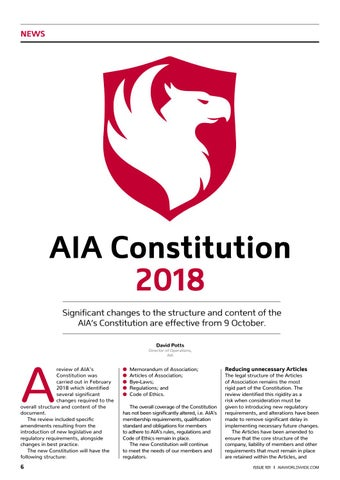 Page 8 of AIA Constitution
