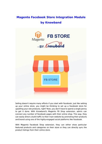 Magento Facebook Store Integration Module by Knowband by