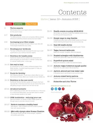 Page 5 of What's inside Autumn issue of Thrive