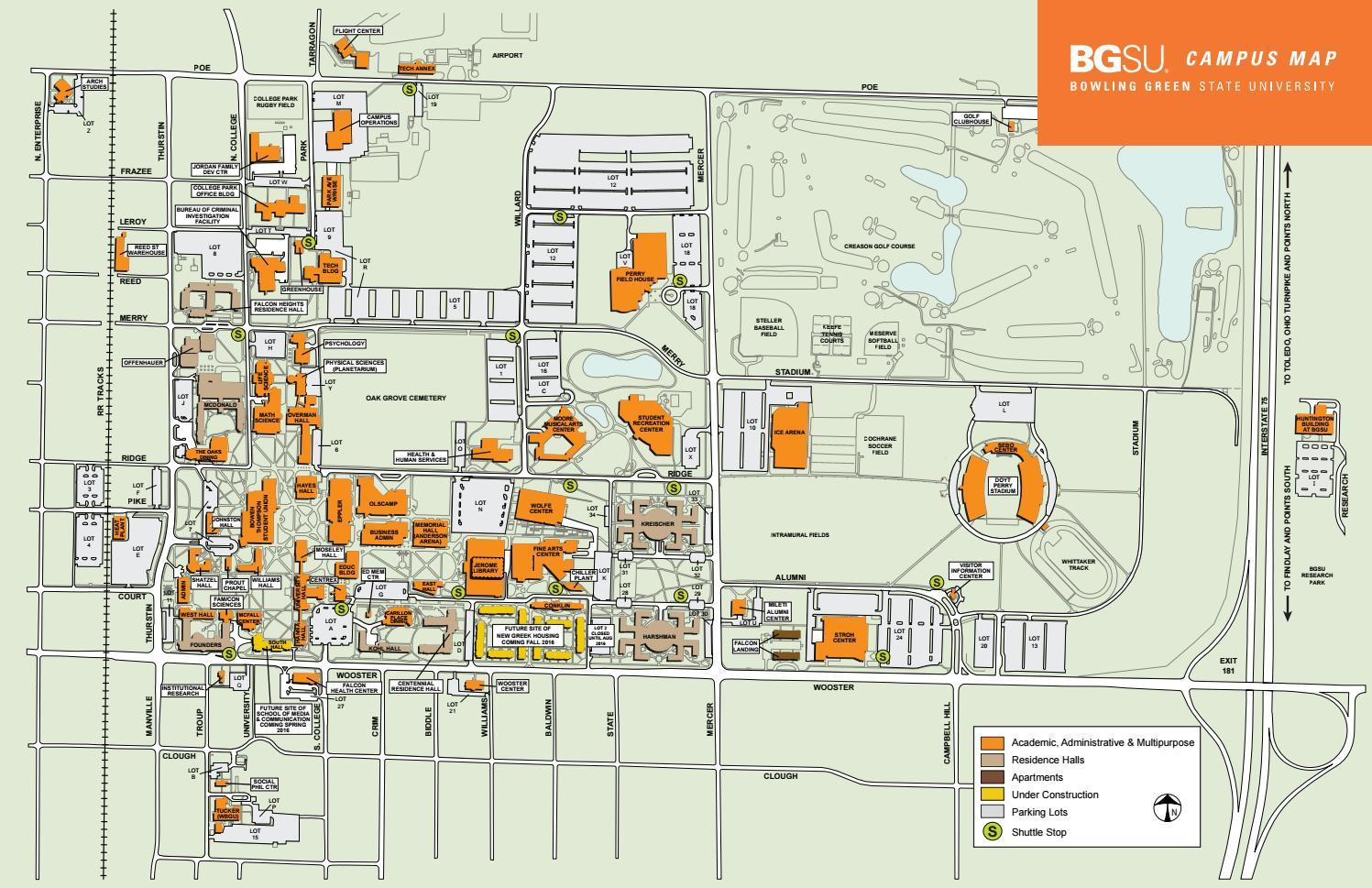 Bgsu Campus Map By Splice Ensemble Issuu
