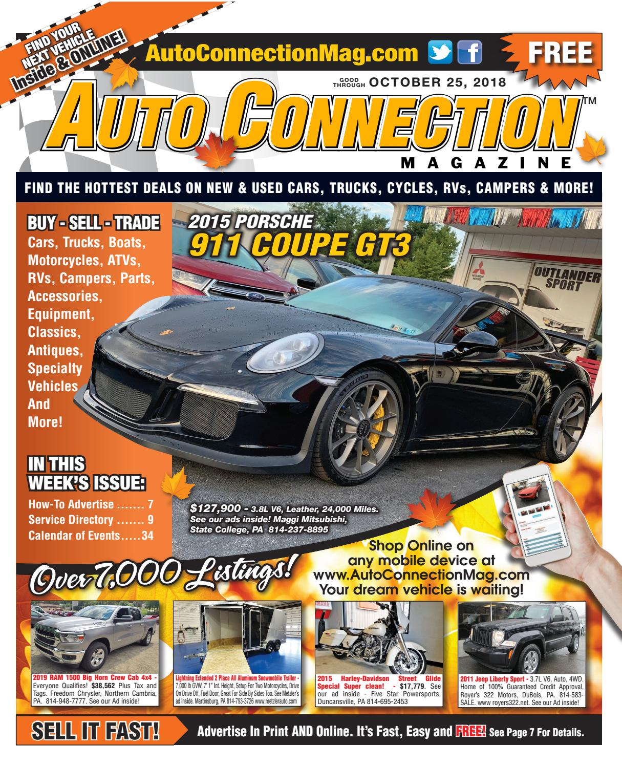 10-25-18 Auto Connection Magazine by Auto Locator and Auto