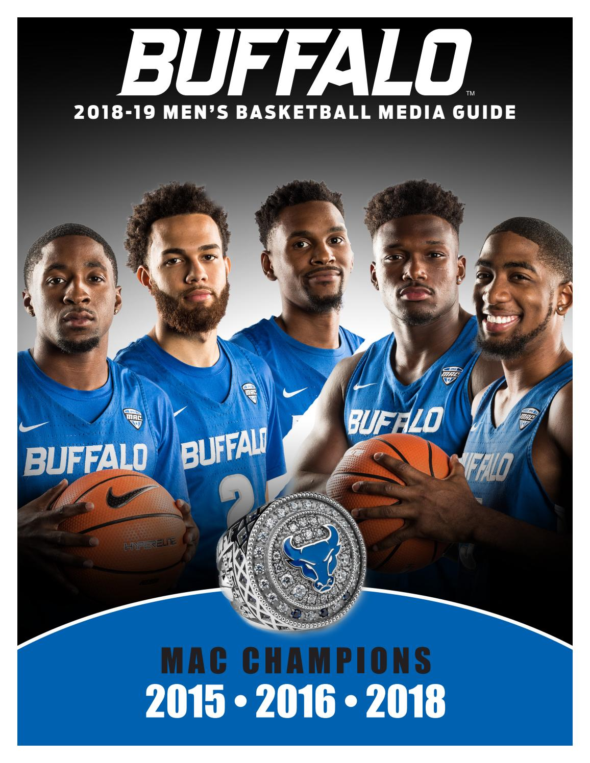 296ccd86587376 2018-19 Buffalo Men s Basketball Media Guide by Buffalo Sports Information  - issuu
