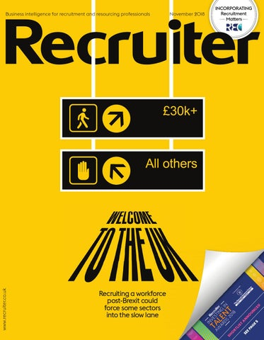 Recruiter November 2018 by Redactive Media Group - issuu