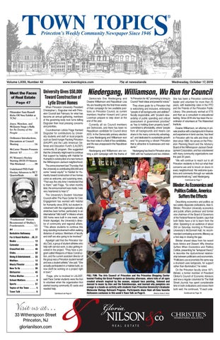 Town Topics Newspaper October 17, 2018 by Witherspoon Media